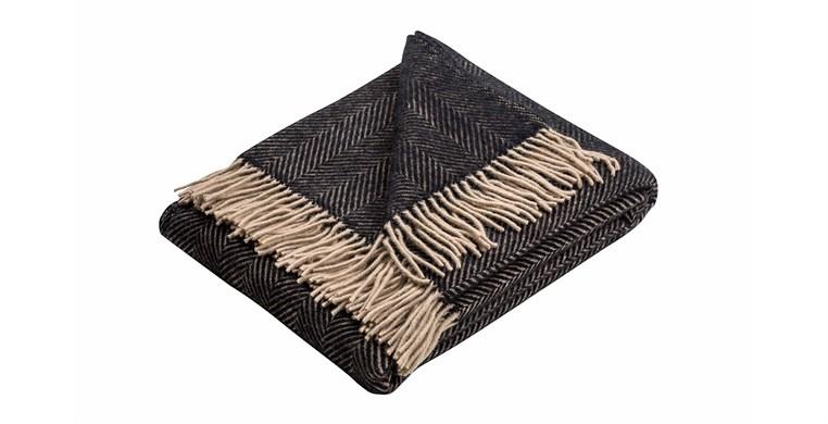 Jura Herringbone Wool Throw